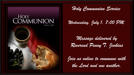 Holy Communion Service 1 July 2020