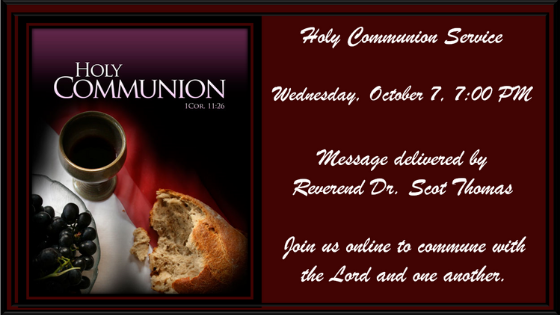 Holy Communion Service 7 October 2020