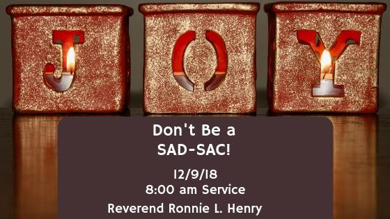 Dont Be a SAD-SAC!