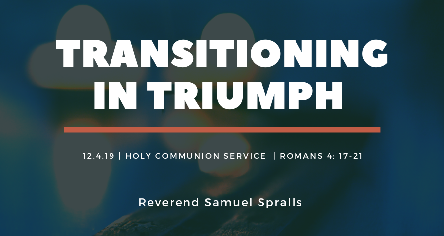 Transitioning in Triumph