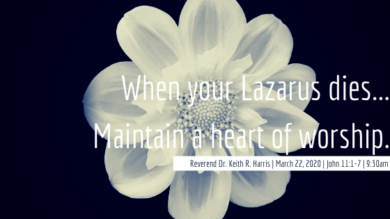 When your Lazarus Dies...Maintain a heart of Worship!