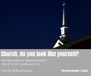 Church, do you look like yourself? Part One: Salve for Shattered Saints!