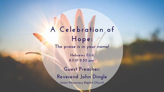A Celebration of Hope: The praise is in your name!