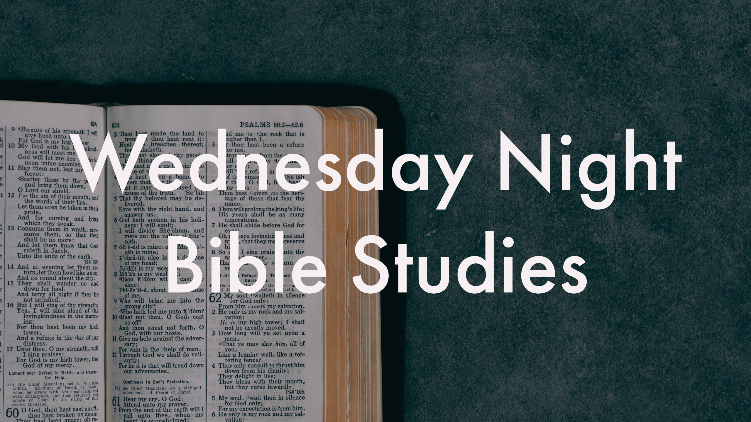 Wednesday Night Bible Studies
