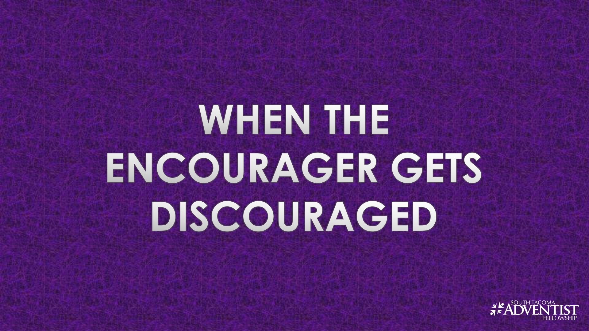 When the Encourager Gets Discouraged