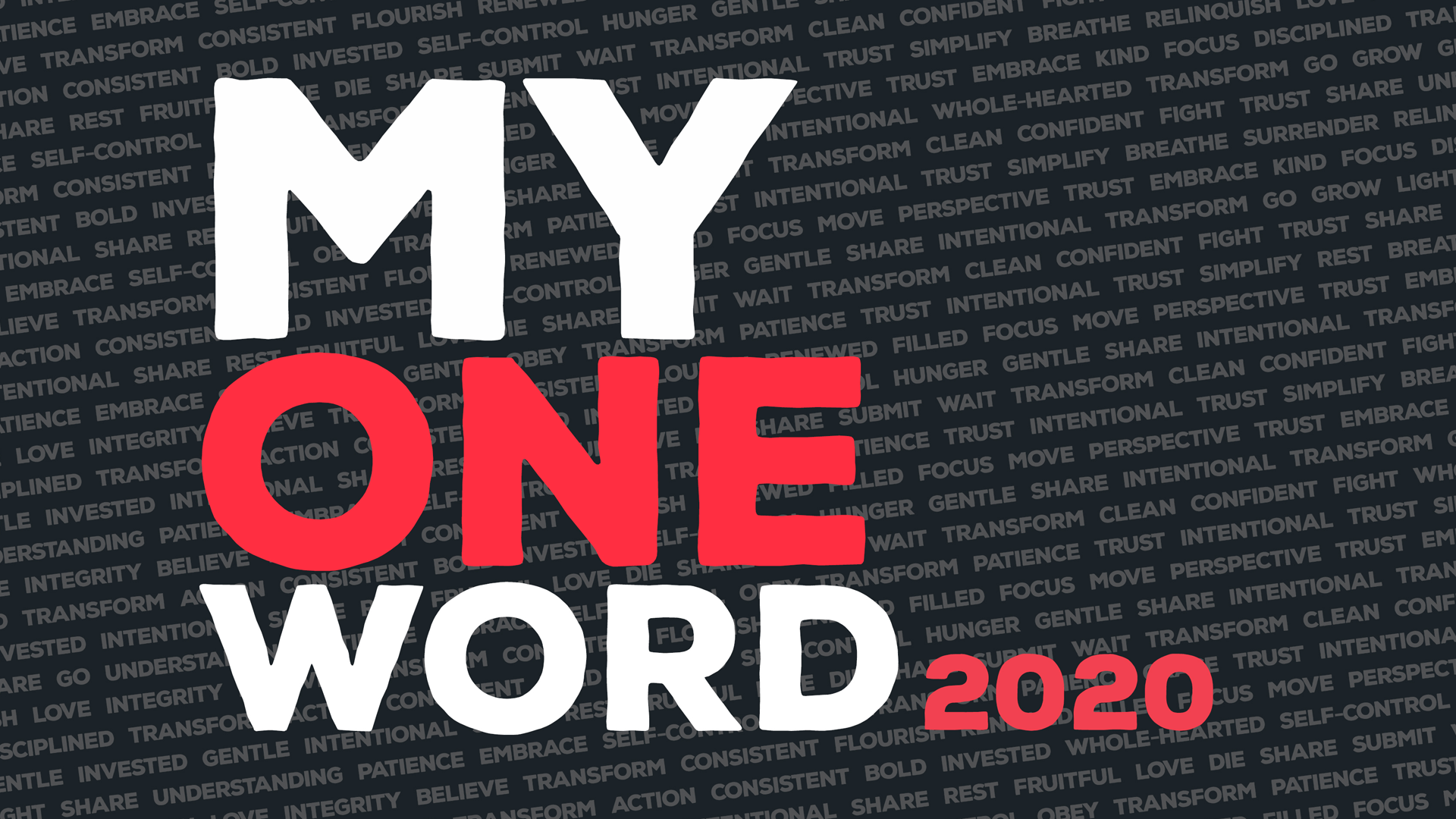My One Word 2020