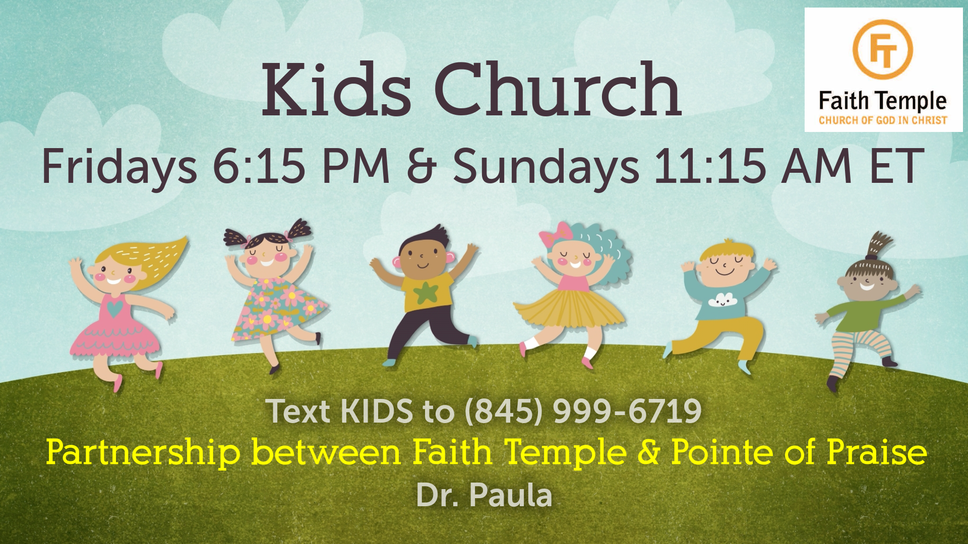 Sunday  FT Kids Church on Zoom