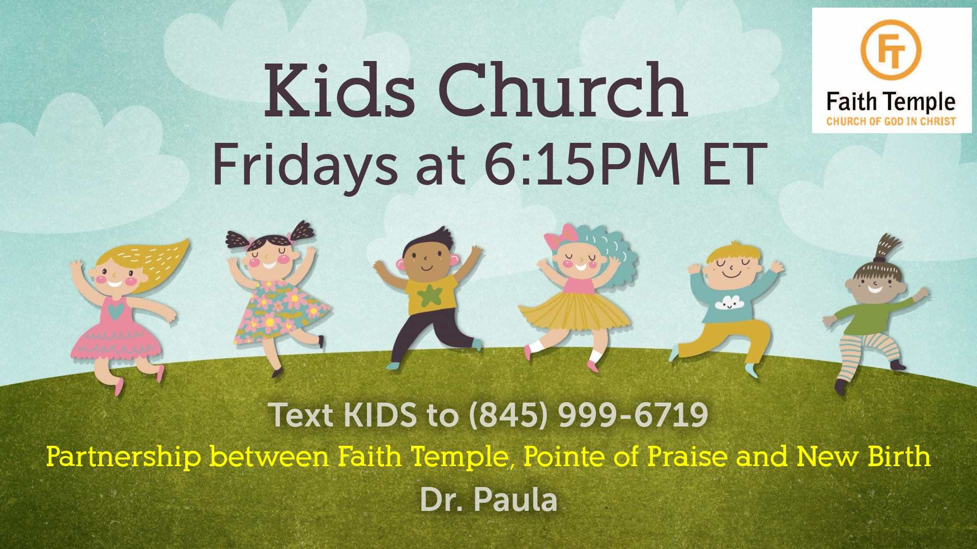 Friday FT Kids Church on Zoom
