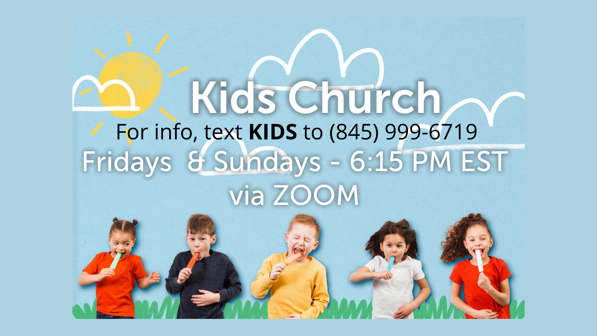 Kids Church Text for Info