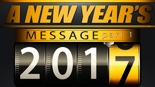 A New Years Message Part One