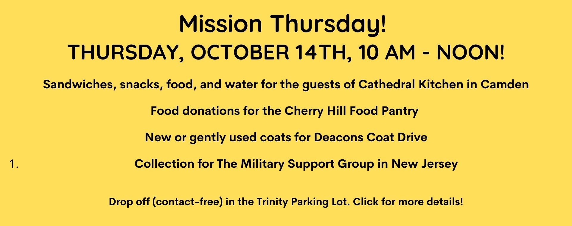 Mission Thursday