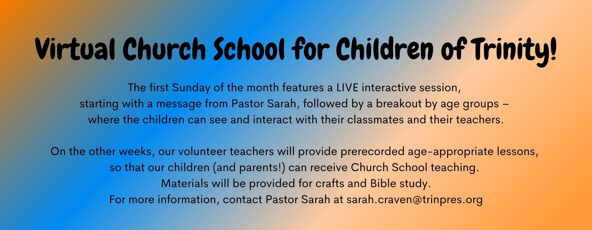 Sunday School Fall 2020
