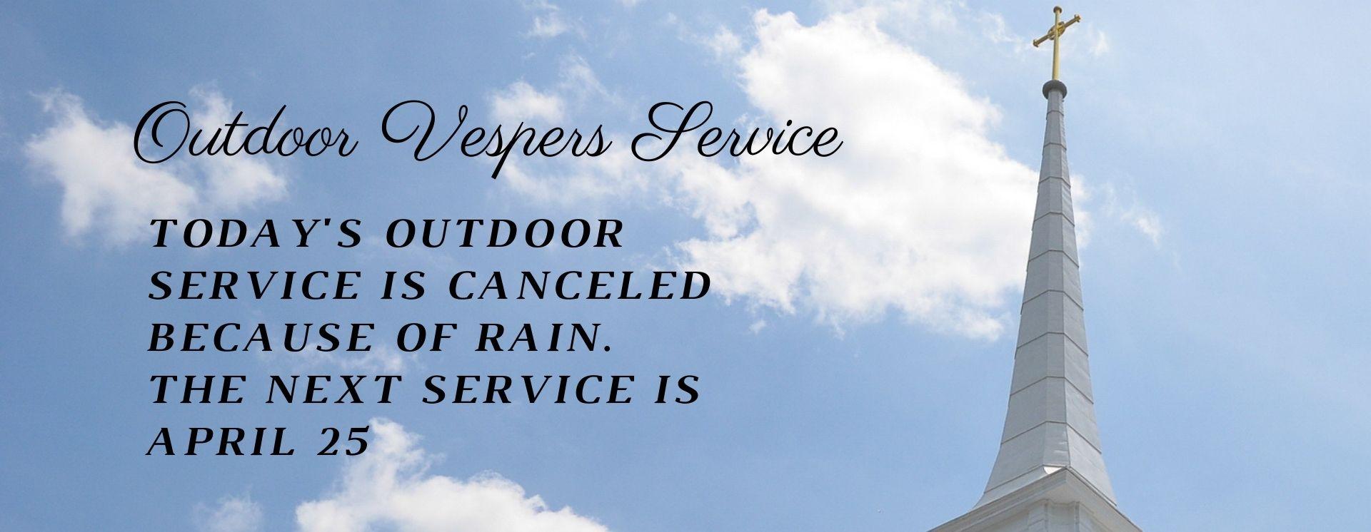 vespers canceled