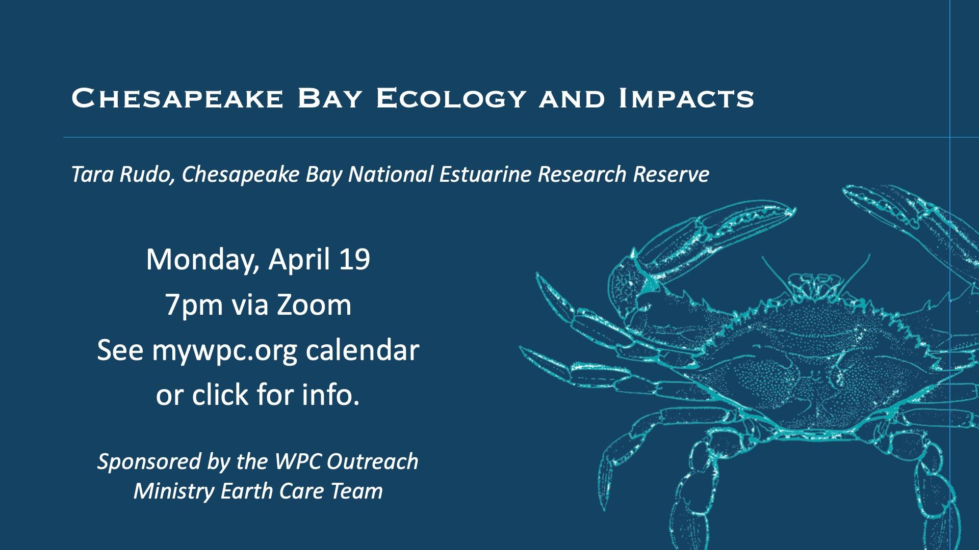 EarthCare Talk on Chesapeake Bay