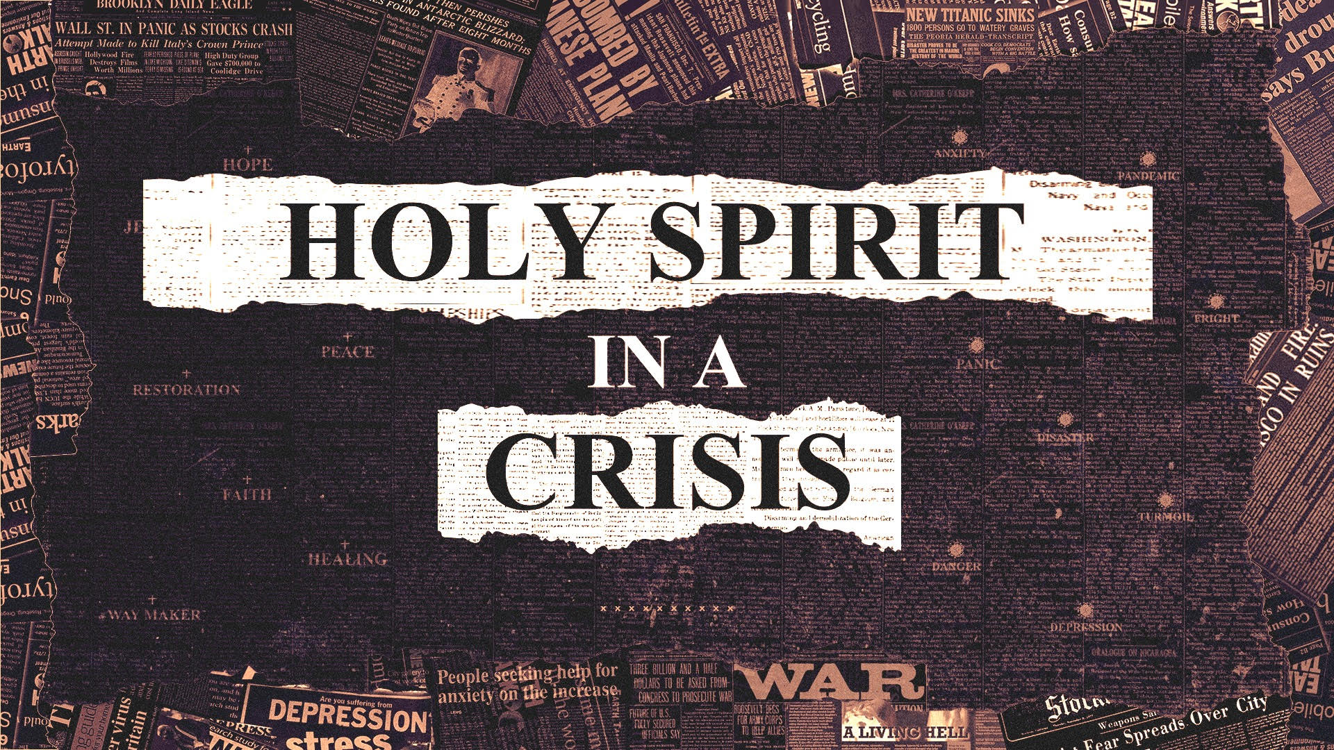 Holy Spirit In A Crisis