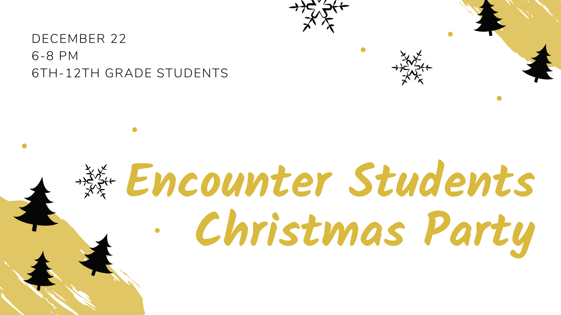 Encounter Students Christmas Party