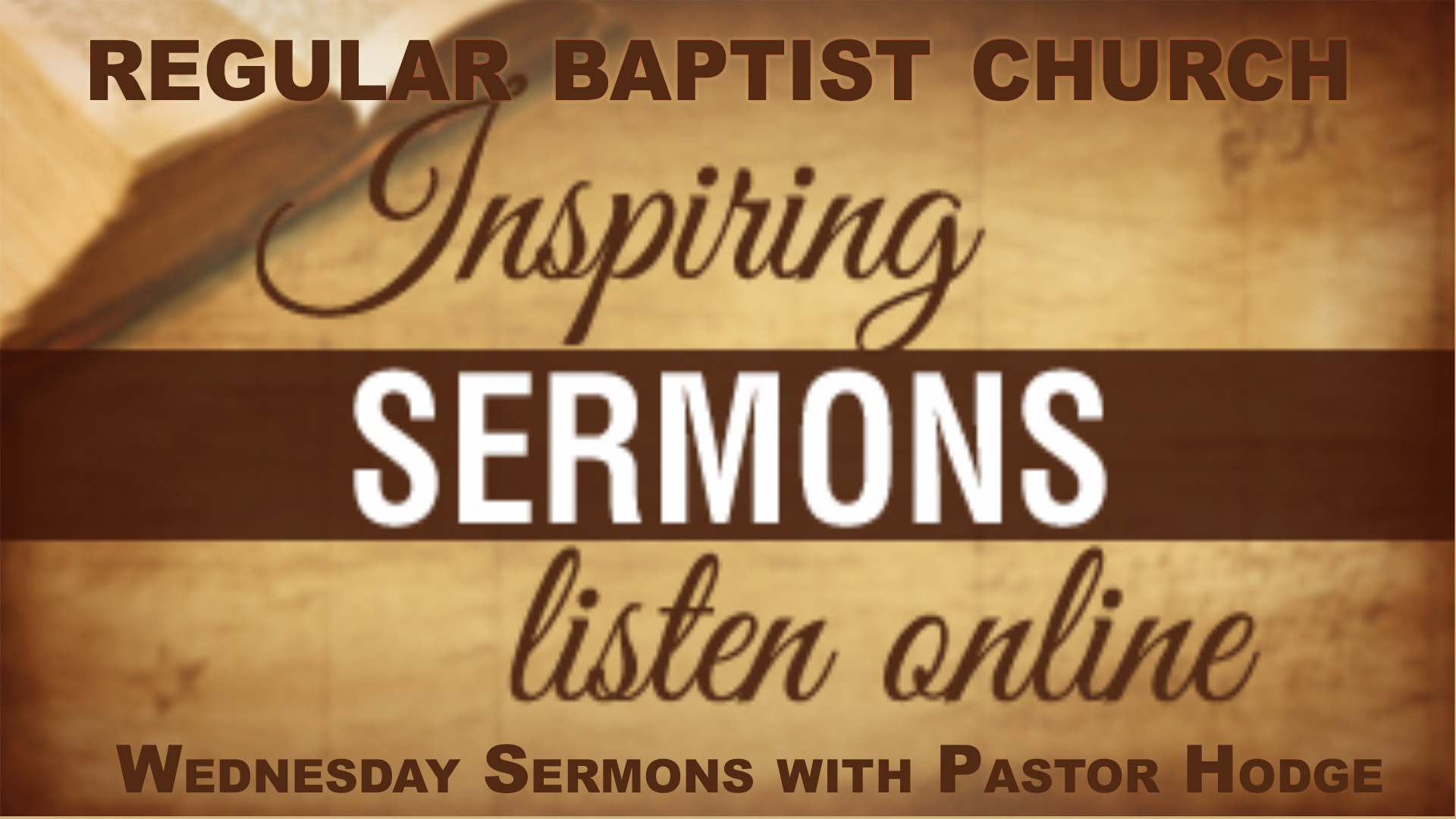 Inspirational Sermons with Pastor Hodge