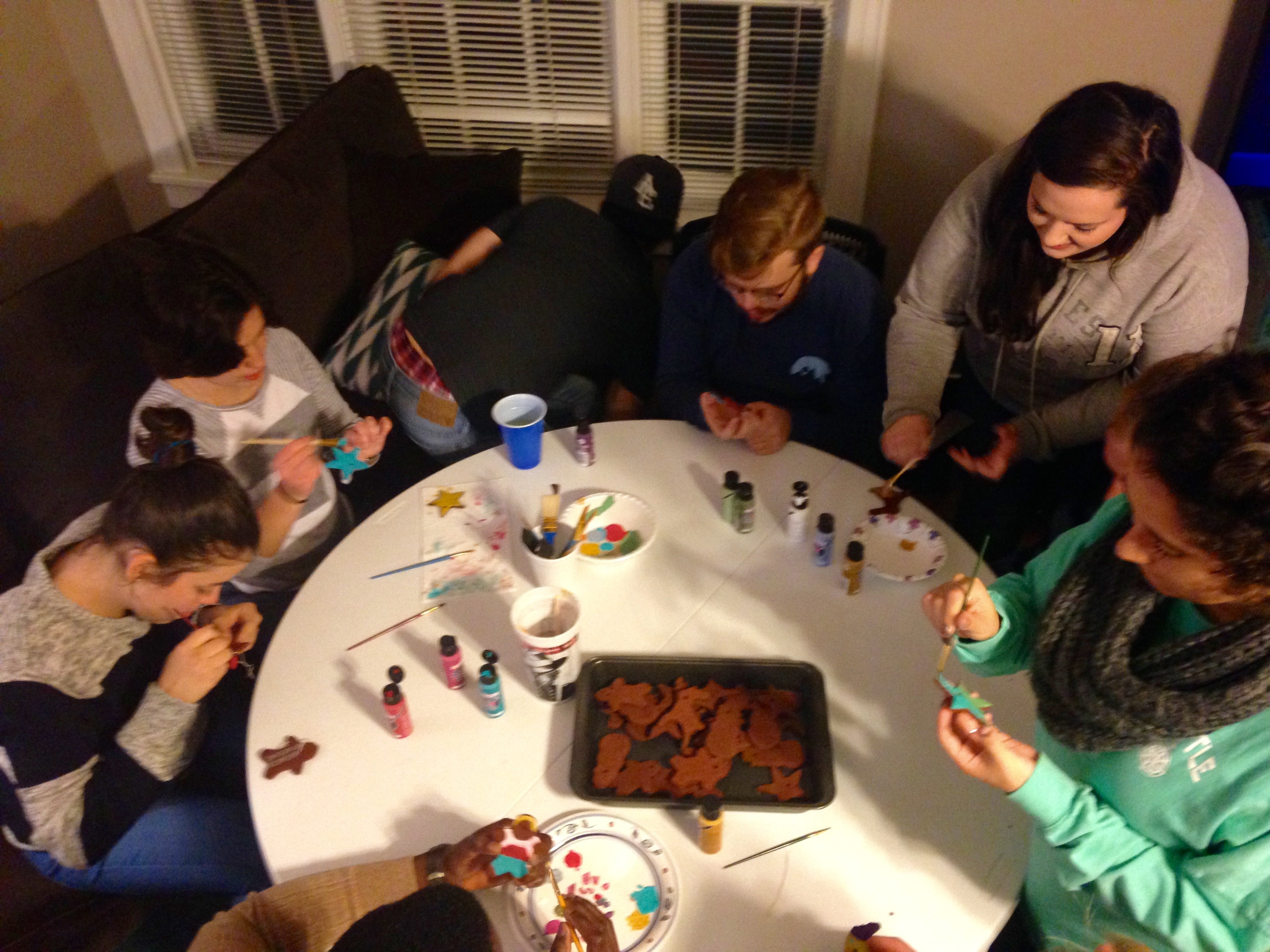 Christmas Ornament making at Genesis