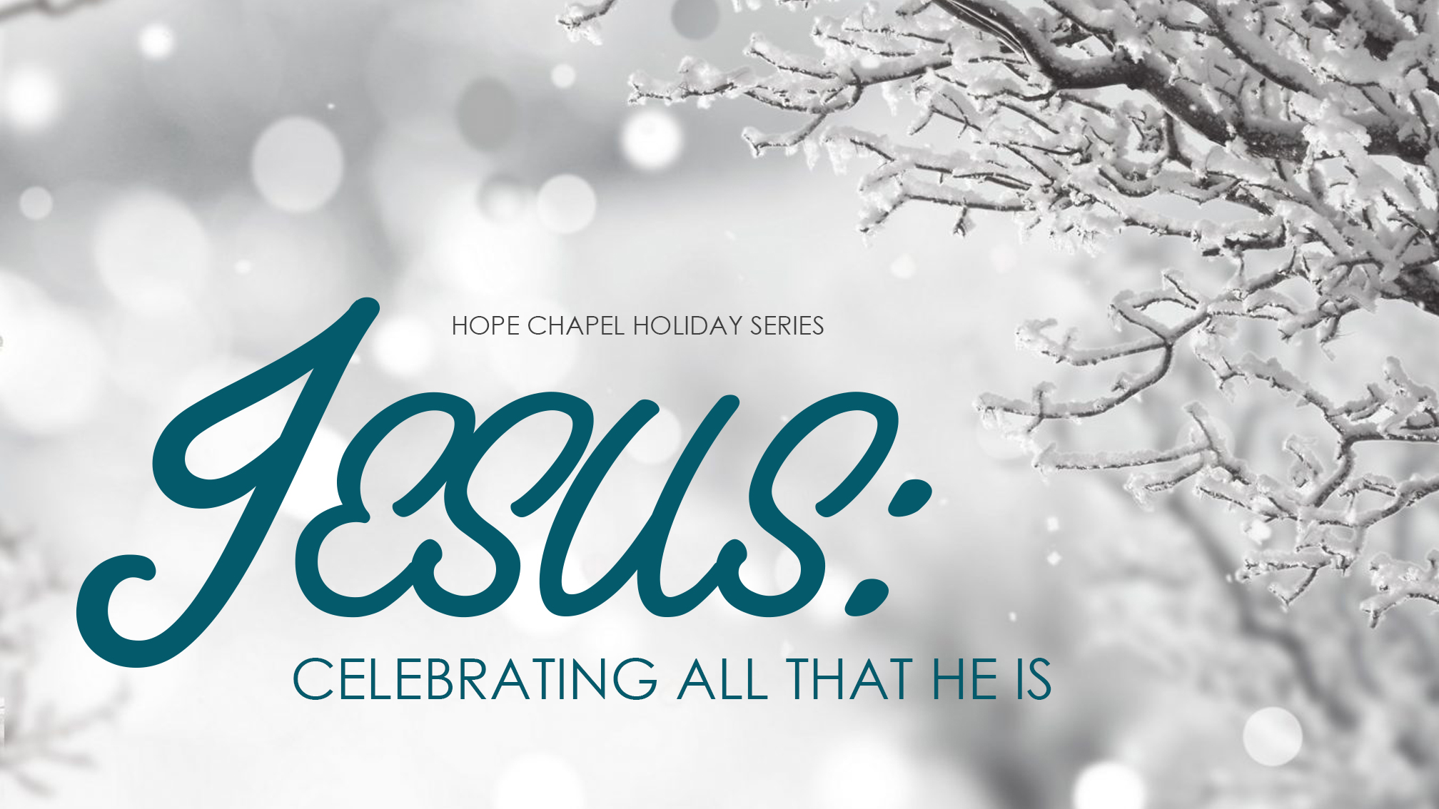 Sermon Series: Jesus - Celebrating all that He is
