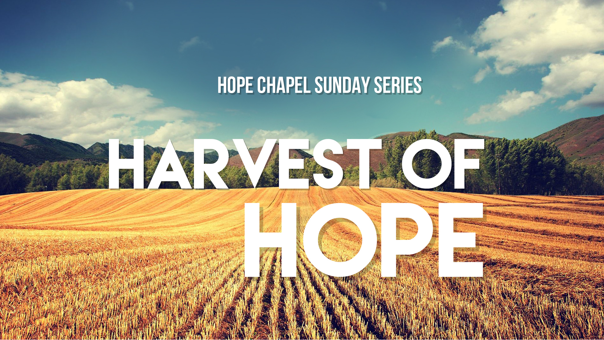 Sermon Series: Harvest of Hope