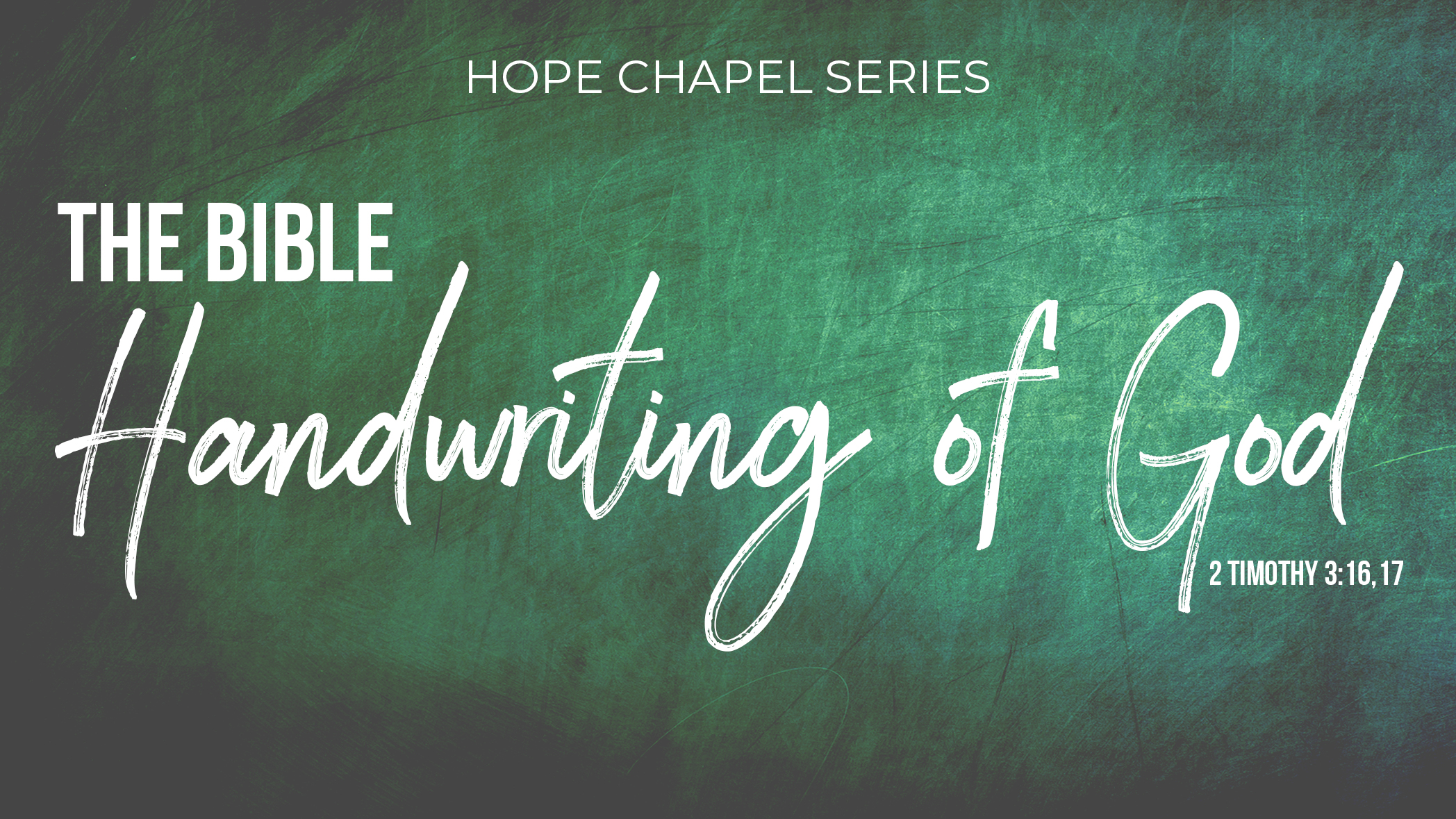 Sermon Series: Handwriting of God
