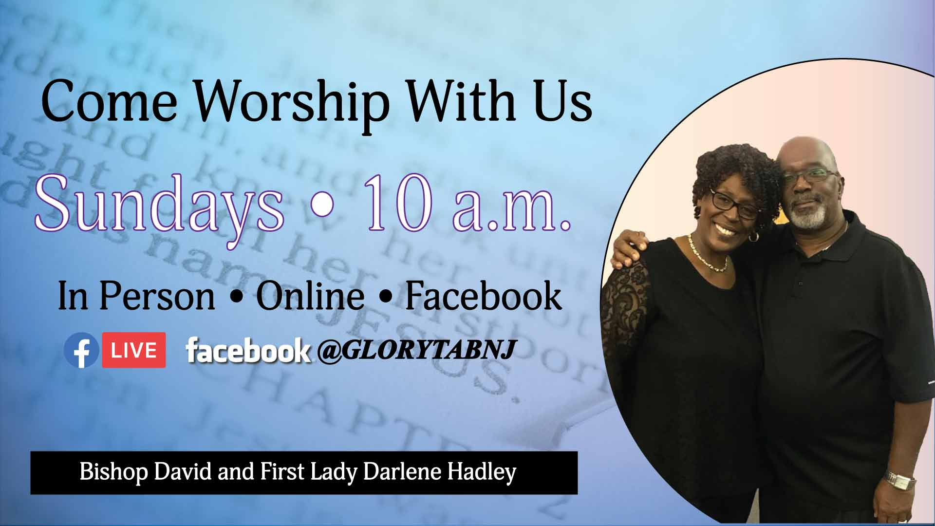 GT Come Worship With Us Banner