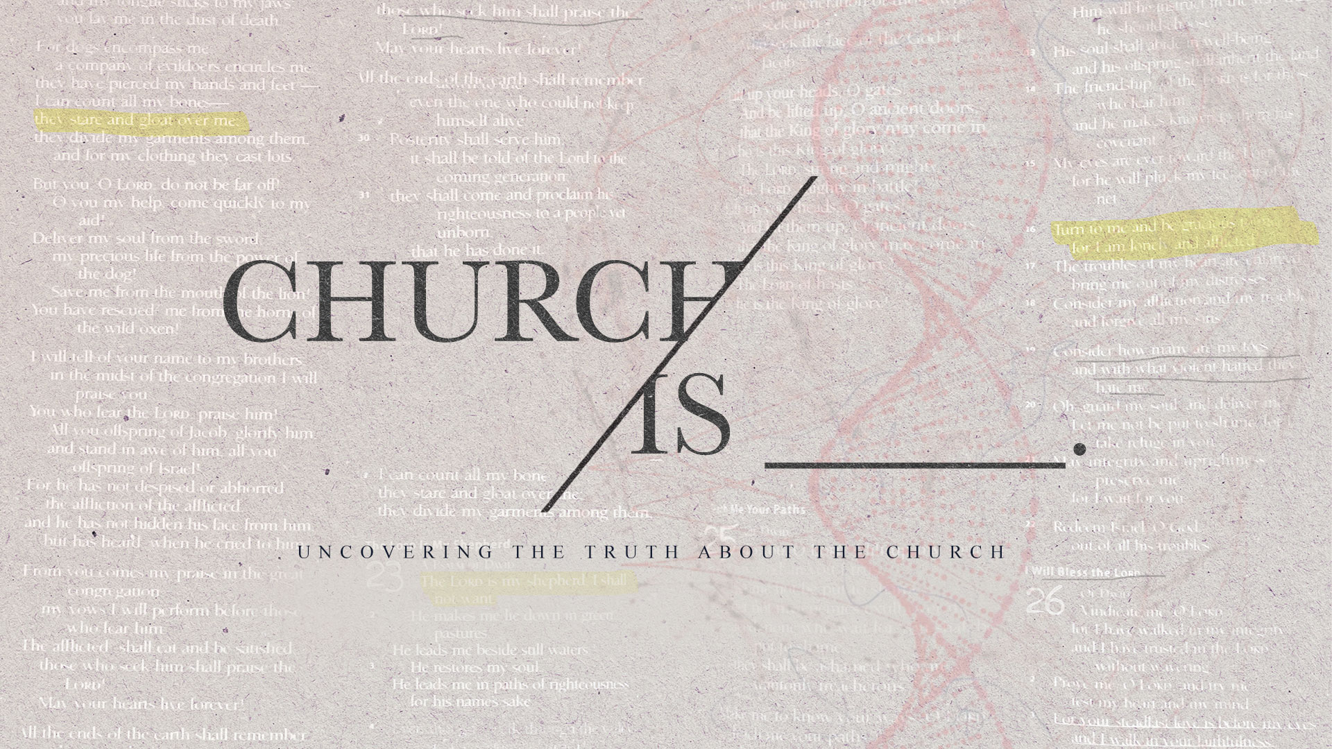 Church Is ___