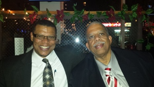Pastor Williams celebrating with the New Queens Deputy Borough President The Honorable Leroy Comeri