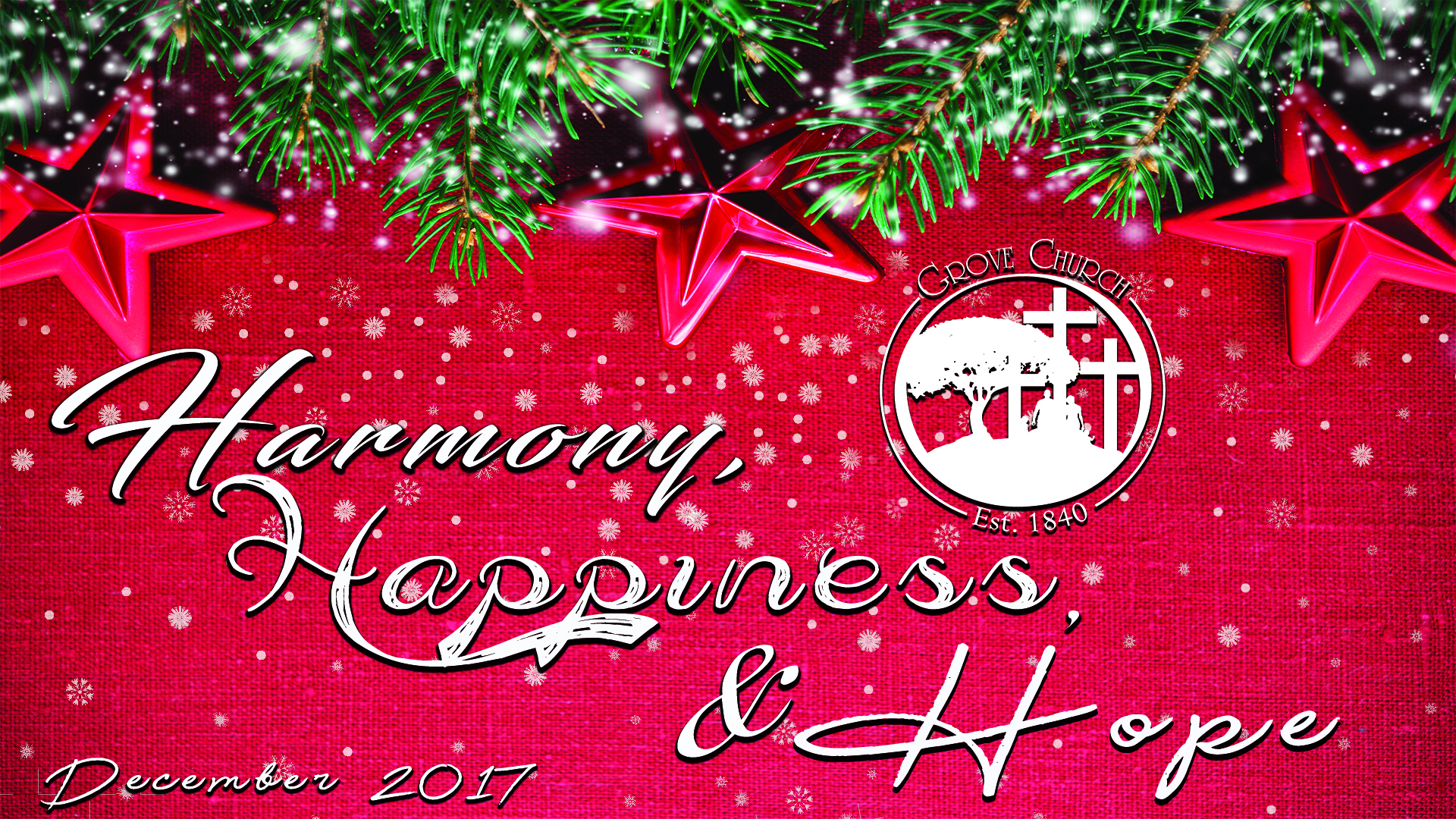 Harmony, Happiness & Hope - December 2017
