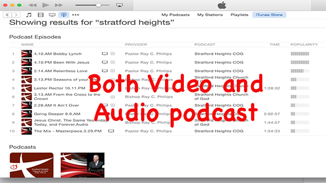 itunes podcast page