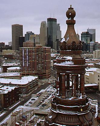 Dome Cupola 1992-Aerial view taken from the crane used to remove & replace the dome cupola. Photo by