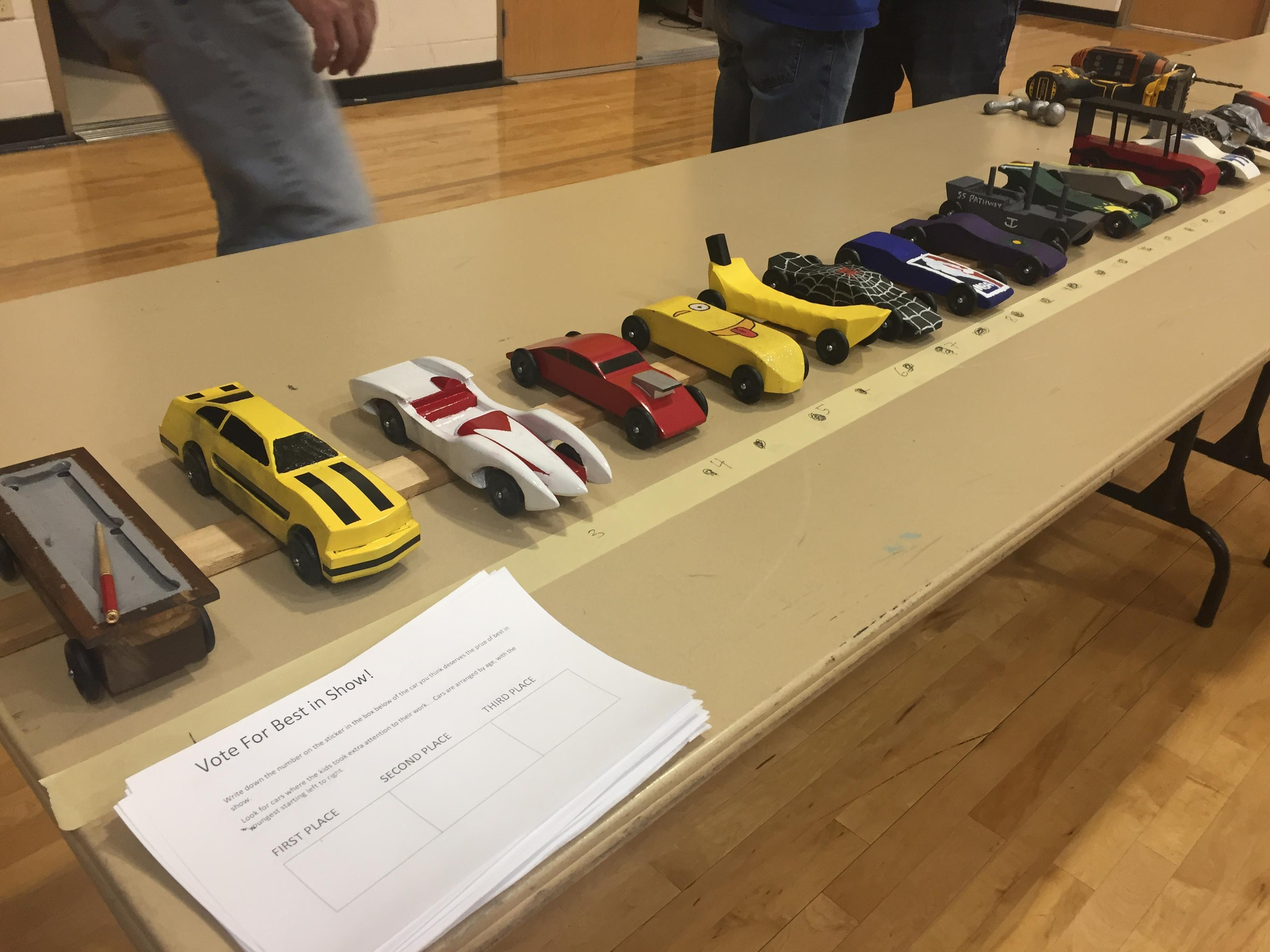 2018 Pinewood Derby Race