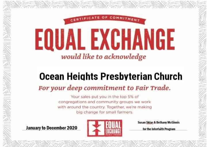 On-going Mission Project Equal Exchange