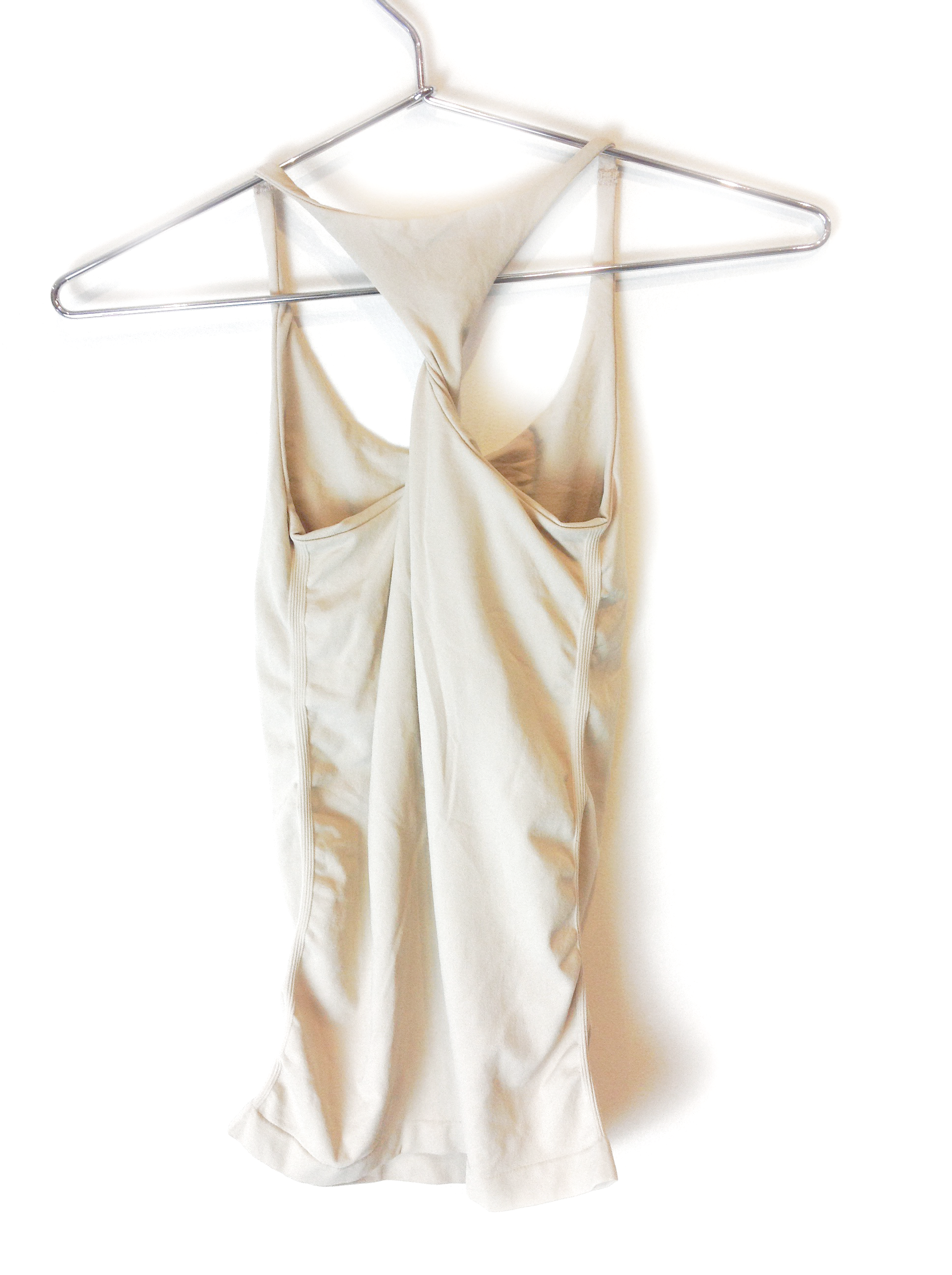 New-Bebe-Womens-Seamless-Knotted-Racerback-Tank-Top-Layering-Cami-Beige-24 thumbnail 3
