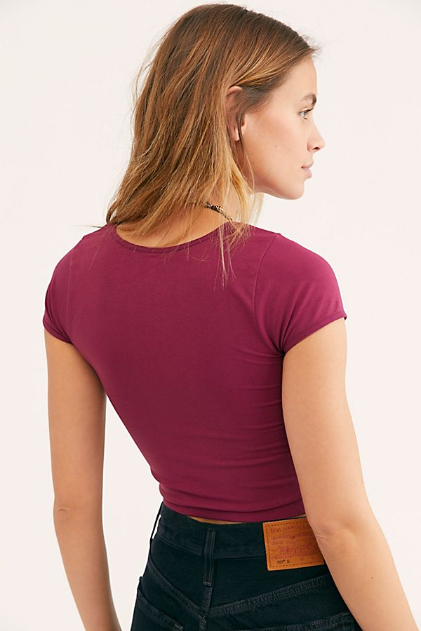 New-Free-People-Womens-Cap-Sleeve-Seamless-Cami-Short-Sleeve-Top-Multicolors-20 thumbnail 23
