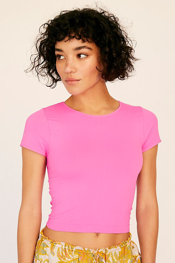 New-Free-People-Womens-Cap-Sleeve-Seamless-Cami-Short-Sleeve-Top-Multicolors-20 thumbnail 43