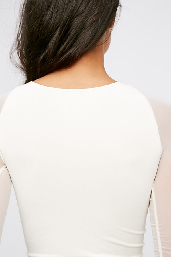 New-Free-People-Womens-Sheer-Scrunch-Long-Sleeve-Seamless-Top-Multicolors-48 thumbnail 23