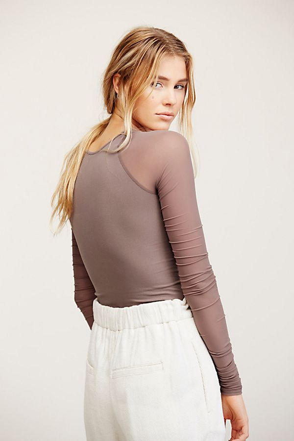 New-Free-People-Womens-Sheer-Scrunch-Long-Sleeve-Seamless-Top-Multicolors-48 thumbnail 13