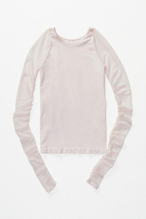 New-Free-People-Womens-Sheer-Scrunch-Long-Sleeve-Seamless-Top-Multicolors-48 thumbnail 30