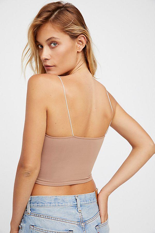 New-Free-People-Womens-Seamless-Stretchy-Skinny-Strap-Brami-Crop-Tank-Top-Cami thumbnail 3