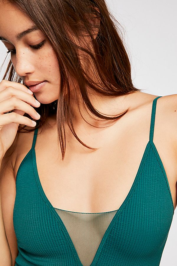 New-Free-People-Womens-Ribbed-Come-Around-Cami-Sheer-Deep-V-Neck-Tank-Top-38 縮圖 34