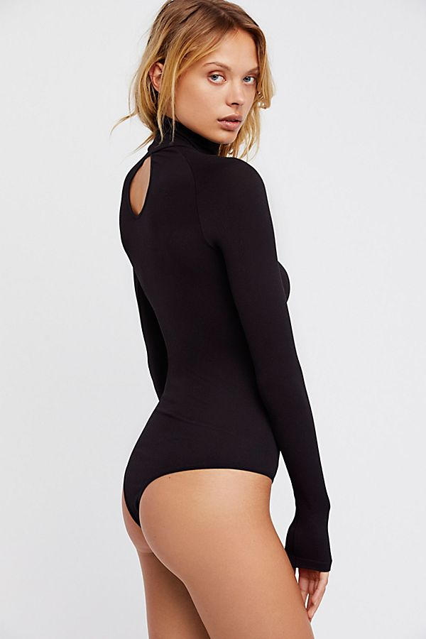 New-Free-People-Womens-Ribbed-Long-Sleeve-Seamless-Turtleneck-Bodysuit-Top-48 thumbnail 20