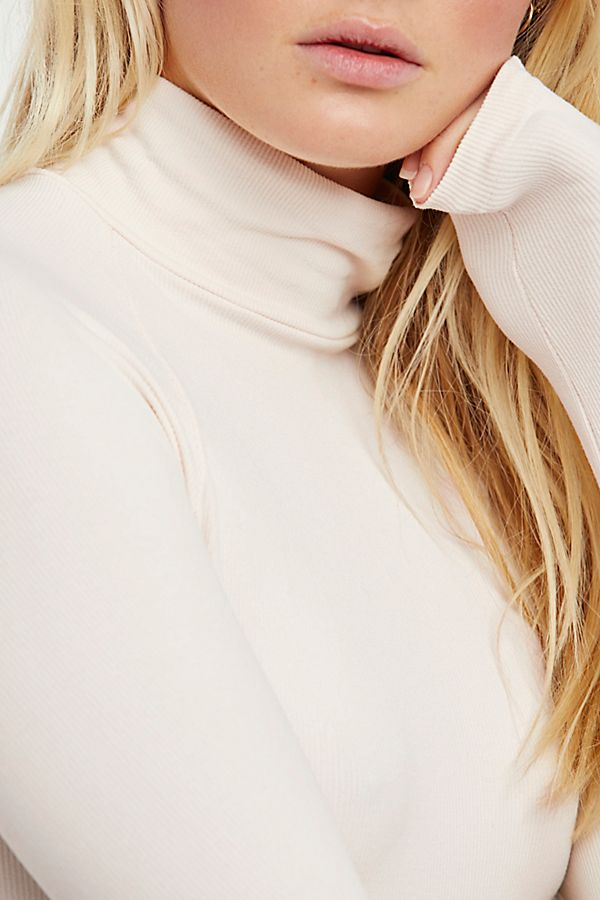 New-Free-People-Womens-Ribbed-Long-Sleeve-Seamless-Turtleneck-Bodysuit-Top-48 thumbnail 29