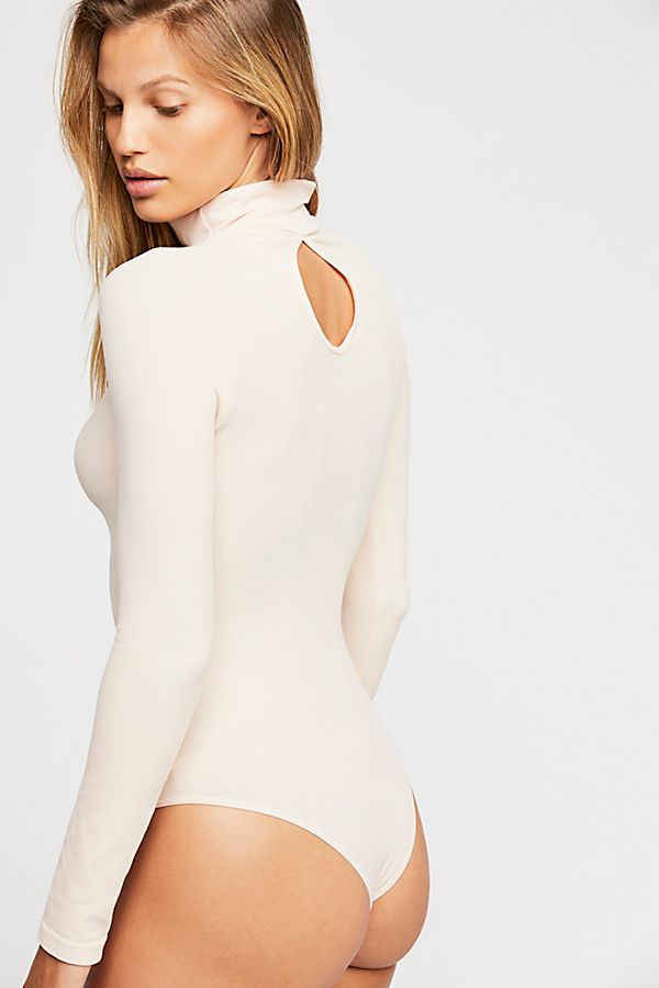 New-Free-People-Womens-Ribbed-Long-Sleeve-Seamless-Turtleneck-Bodysuit-Top-48 thumbnail 49