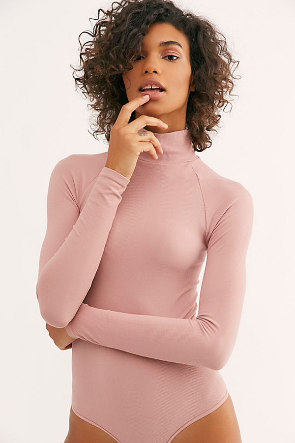 New-Free-People-Womens-Ribbed-Long-Sleeve-Seamless-Turtleneck-Bodysuit-Top-48 thumbnail 37