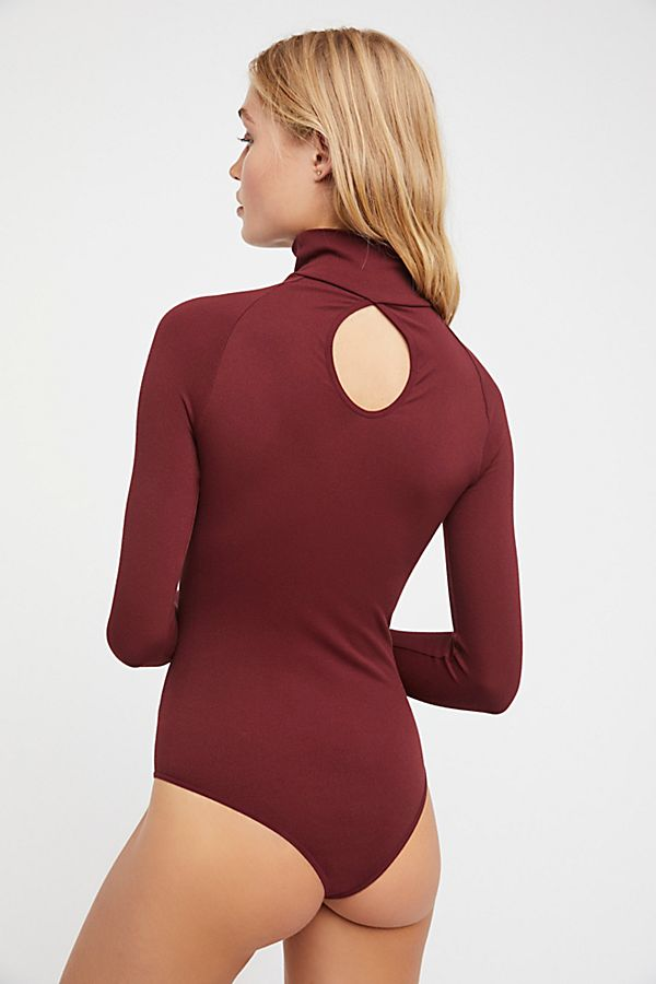 New-Free-People-Womens-Ribbed-Long-Sleeve-Seamless-Turtleneck-Bodysuit-Top-48 thumbnail 23