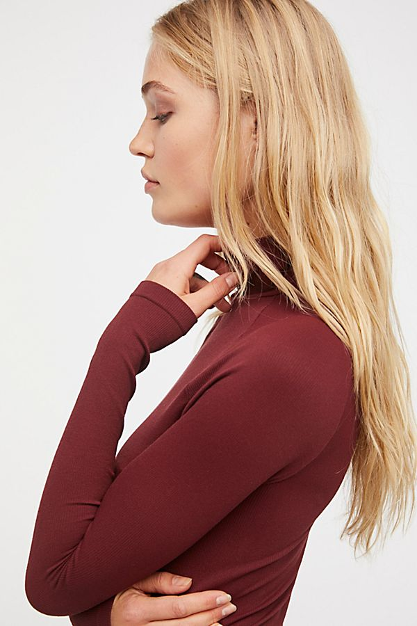 New-Free-People-Womens-Ribbed-Long-Sleeve-Seamless-Turtleneck-Bodysuit-Top-48 thumbnail 24