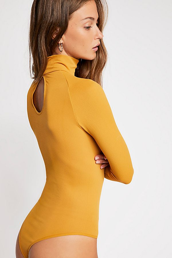 New-Free-People-Womens-Ribbed-Long-Sleeve-Seamless-Turtleneck-Bodysuit-Top-48 thumbnail 16