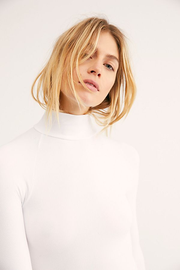 New-Free-People-Womens-Ribbed-Long-Sleeve-Seamless-Turtleneck-Bodysuit-Top-48 thumbnail 4