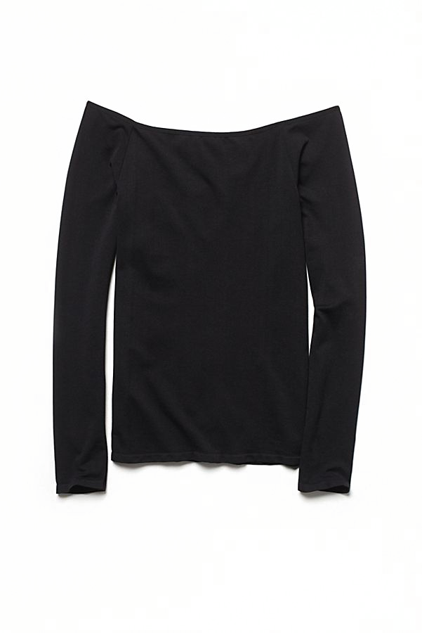 New-Free-People-Womens-Seamless-Long-Sleeve-Off-The-Shoulder-Solid-Top-38 thumbnail 9